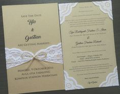 Rustic vintage wedding invitation #tyagustianwedding