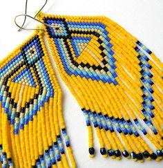 Seed Bead Jewelry, Seed Bead Earrings, Boho Earrings, Earrings Handmade, Beaded Jewelry, Seed Beads, Jewellery, Native American Earrings, Native American Fashion