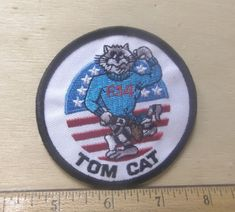 US Navy Tom Cat Embroidered Patch