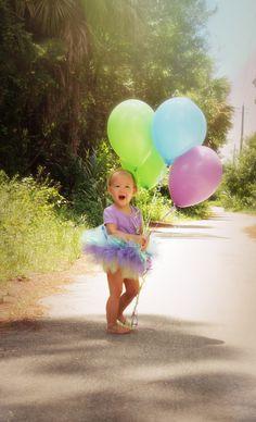 Facebook.com/LessThanThreePhotography Birthday Balloon Toddler photoshoot for 2nd birthday :)