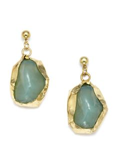 ideeli | Stella & Ruby sale Green Irregular, Stone Drop Earrings, $35