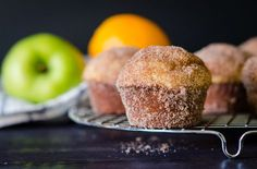 Tender nutmeg-scented muffin gets slathered in butter and rolled in cinnamon sugar