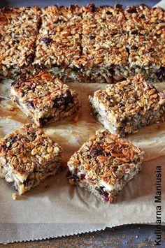 Kulinarna Maniusia - blog kulinarny: Owsianka w formie placka na śniadanie