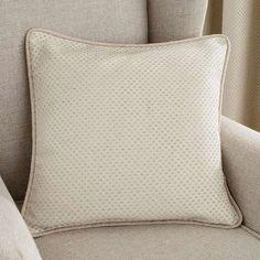 Natural Jasmine Square Cushion