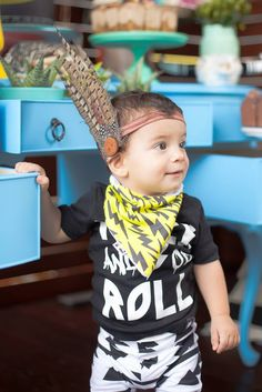aztec-tribal-boho-first-birthday-party