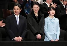 Crown Prince Naruhito of Japan, Crown Princess Masako and Princess Aiko. Family of Crown Prince of Japan went to the movie theater