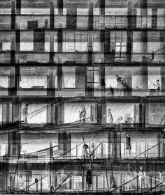 "mastersofphotography: Hong Kong Inspired Photography Series by Fan Ho 何藩 Self-taught, renowned Asian photographer, Fan Ho's photography series, ""Hong Kong Memoirs,"" introduces a series of. Fan Ho, Hong Kong, Geometric Construction, Chinese Fans, Chinese Paper, Photography Series, Documentary Photography, Urban Life, Street Photographers"
