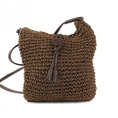 New Boho Style Small Beach Crossbody Straw Bags Summer Fashion Braid  Handmade Women Shoulder Bag Handbags 8cb6486dbb