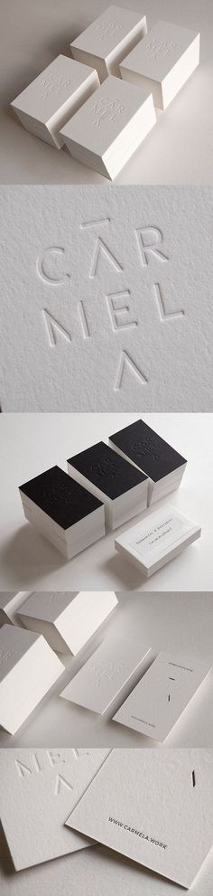 Brilliant Minimalist White On White Business Card Design