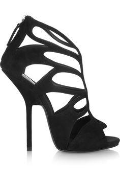 giuseppe zanotti cutout suede sandal