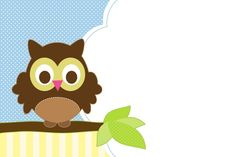 Free Owl Party Printables for Boy Parties Blank Owl Invitation