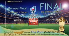 The moment we have all been waiting for is here! It's time for the Rugby World Cup FINAL. New Africa, World Cup Final, Rugby World Cup, Restaurant, Special Promotion, Baseball Field, New Zealand, Finals, Waiting