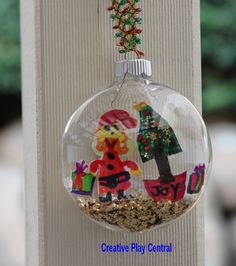 Christmas bauble - Filled with kids drawings