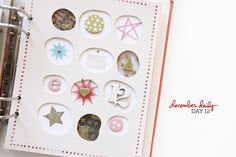 Ali Edwards | Blog: December Daily® 2014 | Day Twelve #decemberdaily Ali Edwards, Christmas Albums, Christmas Art, December Daily 2014, Paper Art, Paper Crafts, Daily Day, Studio Calico, Embroidery Art