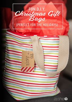 Fun D.I.Y. Christmas Gift Bags – Perfect for the Holidays!