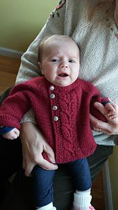 Ravelry: Leaf Love Baby Sweater pattern by Taiga Hilliard Designs