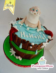El CURSO DE INICIACIÓN de Diciembre esta inspirado en una tarta que realice hace cinco años y no puede ser otro tema que la navidad!! R...