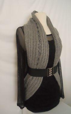 Crochet Vest Pattern-Circular Crochet Vest-PDF Pattern