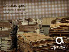 ¿Sabías que en Ameztoi reciclamos todo lo que consumimos? #Ameztoi