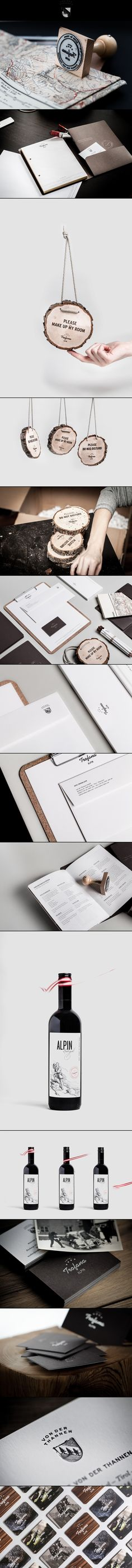 Trofana hotel - via behance #identity #packaging #branding PD