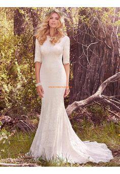 Meerjungfrau Dramatische Luxuriöse Brautkleider aus Spitze mit Schleppe