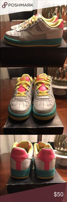 Nike Air Force 1 Women's Nike Air Force 1 premium in great condition gently worn. Size 9.5 in women will fit a men's sz 8 Nike Shoes Sneakers