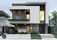 68 Ideas For Exterior Facade Design Style Modern Exterior House Designs, Modern House Facades, Modern Architecture House, Modern House Plans, Architecture Design, Modern Design, Exterior Design, Modern Bungalow Exterior, Best Modern House Design