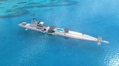 The Migaloo Private Submersible Yacht: Luxury leagues under the sea — CNN Yacht Design, Super Yachts, Monaco Yacht Show, Leagues Under The Sea, Private Yacht, Yacht Boat, Luxury Yachts, Big Yachts, Catamaran