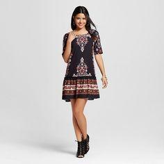 Women's Drop-waist Printed Dress - Xhilaration™ (Juniors') : Target