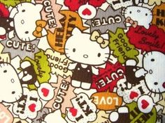 Cute Japanese Fabric Hello Kitty HALF YARD by... | Shop kids,parenting, family | Kaboodle