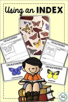 Learn to use an index in the school library using encyclopedias, field guides, non-fiction, etc. while connecting with a butterfly classroom study.  $