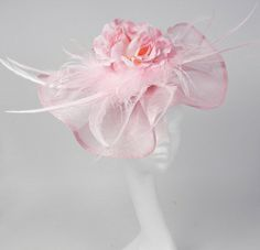 Pink Fascinator Hat for Kentucky Derby Weddings by Hatsbycressida, $90.00