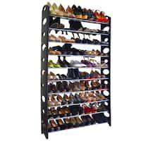 10 Tier 50 Pair Shoe Rack Shelf Storage DIY Large Shoe Cabinet Tower Shoes Organizer for Home Black & Silver Closet Shelves, Closet Storage, Storage Rack, Closet Organization, Storage Shelves, Shoe Storage Hacks, Organizing Shoes, Closet Dresser, Diy Shelving