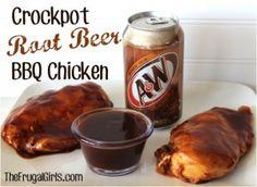 Crockpot Root Beer BBQ Chicken Recipe