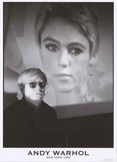 "A great portrait poster of legendary artist Andy Warhol in New York in 1965! In the background is socialite and ""It Girl"" Edie Sedgwick. Ships fast. 24x33 inches. Need Poster Mounts..? bm2230"