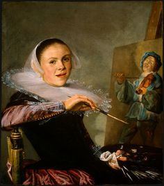 "cavetocanvas:  Judith Leyster ""Self-Portrait"" c. 1630.   National Gallery of Art"