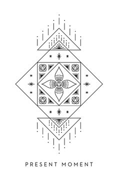 Present Moment - Inner Star Oracle Deck - The Darling Tree Hexagon Tattoo, Mandala Tattoo, Geometry Art, Sacred Geometry, Maching Tattoos, Nouveau Tattoo, Tattoo Illustration, Flower Mandala, Dot Painting