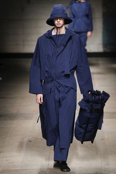 Craig Green Fall 2017 Menswear collection _ Indigo Blue _ Outerwear _ Rain