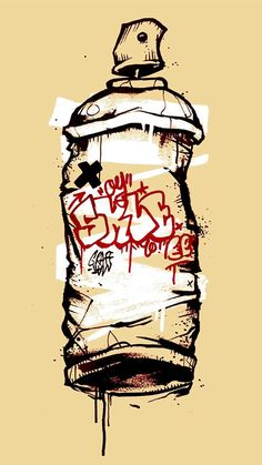 Spray Can by Beercan of spraypaint Graffiti Art, Wie Zeichnet Man Graffiti, Graffiti Tattoo, Graffiti Tagging, Graffiti Wallpaper, Graffiti Drawing, Graffiti Styles, Graffiti Lettering, Art Drawings