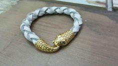 Pulsera serpiente oro/blanvo