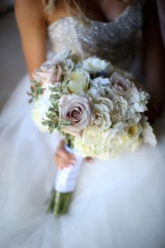 Blush and Cream Wedding Bouquet ~  Melissa McClure Photography and @stephroseevents #BTMVendor