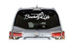 Baseball Life Car Decal High Quality Outdoor Vinyl -  - 1