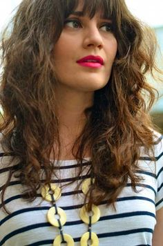Best Curly Hair with Bangs