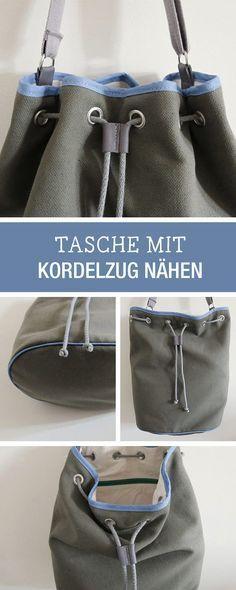 """DIY-Nähanleitung für eine angesagte """"Bucket Bag"""" Tasche / diy tutorial: sew your own bucket bag via DaWanda.com"""