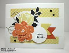 Stamp Sets: Simple Stems, Summer Silhouettes, Petite Pairs Card Stock: Whisper White, So Saffron, Tangerine Tango Designer Series Paper: S...