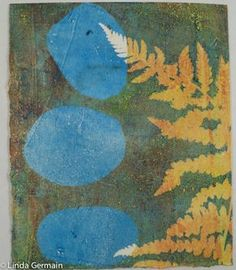 Use negative space to make great monotype prints