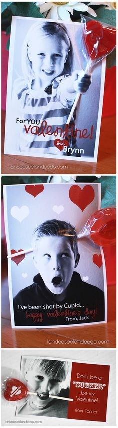 DIY Valentine's using YOUR Photos!  So cute and the kids LOVE to hand them out!