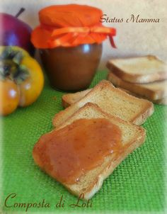 Composta di loti: cachi e mele alla vaniglia