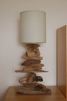 driftwood lamp - pinned from A Driftwood Affair & Weathered Designs