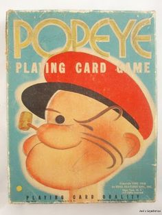 popeye playing cards